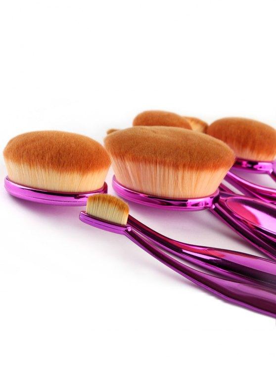 Toothbrush Shape Makeup Brushes Set - PURPLE  Mobile