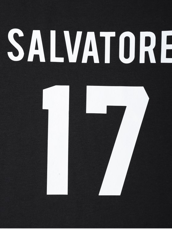 Jewel Neck Salvatore 17 T-Shirt - BLACK M Mobile