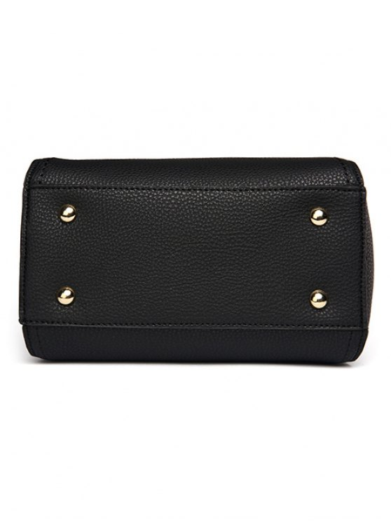 Flap Metal Embellished Shoulder Bag -   Mobile