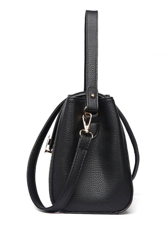Flap Metal Embellished Shoulder Bag - GRAY  Mobile
