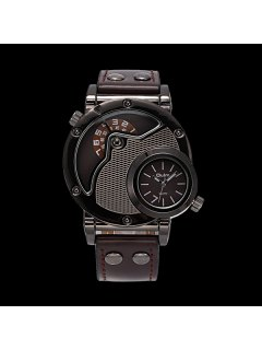 Vintage PU Leather Wrist Quartz Watch - Coffee