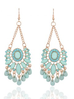 Rhinestone Floral Dangle Earrings - Fresh