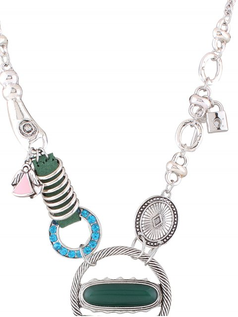 hot Floral Heart Necklace - SILVER  Mobile