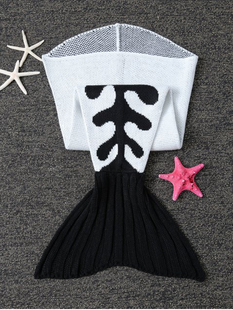lady Fish Bone Knit Baby Mermaid Blanket Throw -   Mobile