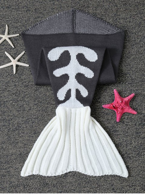 best Fish Bone Knit Baby Mermaid Blanket Throw -   Mobile