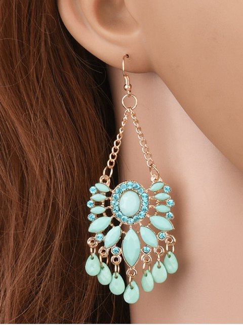lady Rhinestone Floral Dangle Earrings - FRESH  Mobile