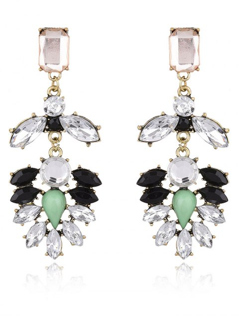 online Faux Gem Water Drop Drop Earrings - WHITE  Mobile