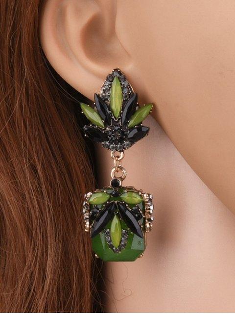 new Fake Jade Rhinestone Drop Earrings -   Mobile