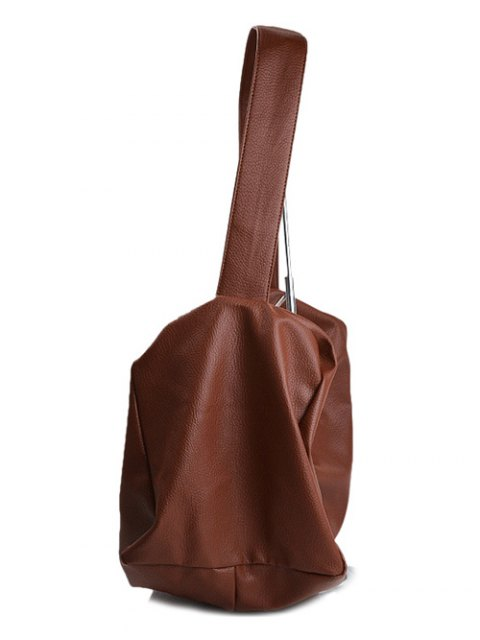 outfits Chains Slouch Shoulder Bag - BROWN  Mobile