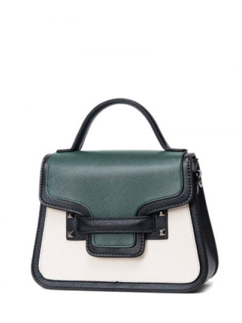 shop Chains Color Block Handbag -   Mobile