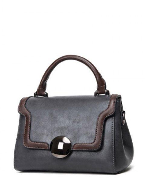 chic Color Panel PU Leather Handbag -   Mobile