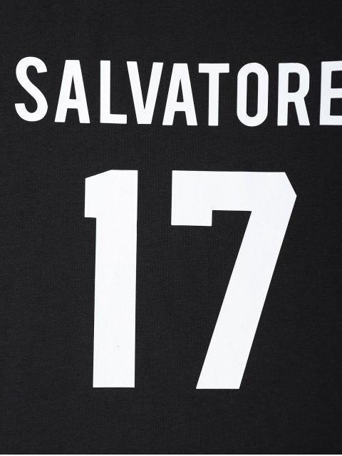 ladies Jewel Neck Salvatore 17 T-Shirt - BLACK L Mobile