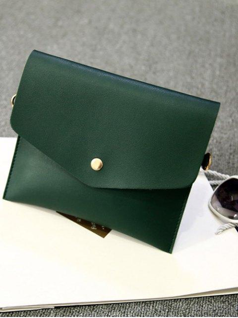 buy Pompon Metal Ring Crossbody Bag - GREEN  Mobile