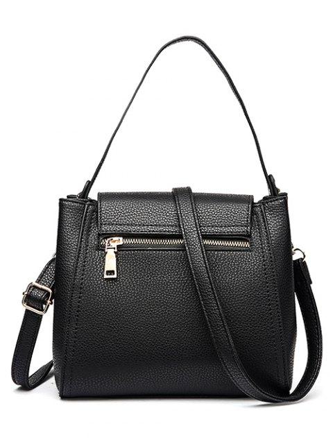 ladies Flap Metal Embellished Shoulder Bag - GRAY  Mobile