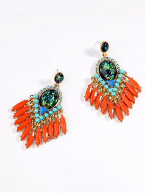 best Artificial Gemstone Oval Drop Earrings - JACINTH  Mobile