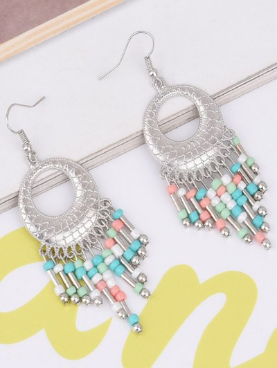 Hollow Out Beads Hook Earrings - COLORFUL  Mobile