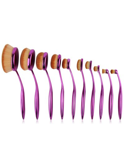 Toothbrush Shape Makeup Brushes Set - PURPLE  Mobile