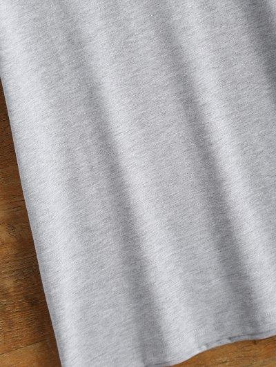 Short Sleeve Herbiuone Boyfriend T-Shirt - GRAY L Mobile