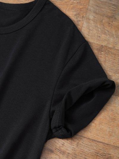 Jewel Neck Salvatore 17 T-Shirt - BLACK L Mobile