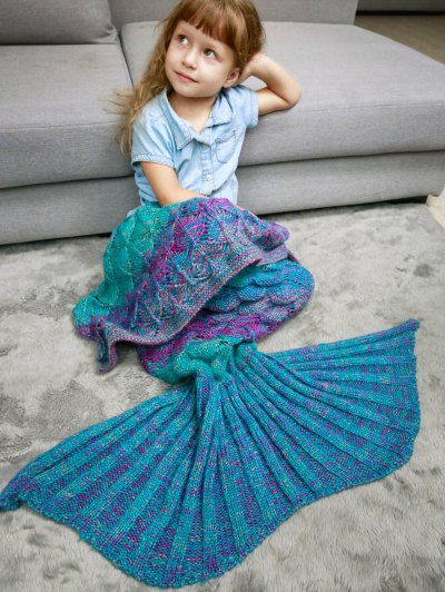 Kids Sleeping Bag Knitted Mermaid Blanket - COLORMIX  Mobile
