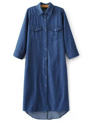 Camisa De Vestir De Mezclilla Midi - Denim Blue