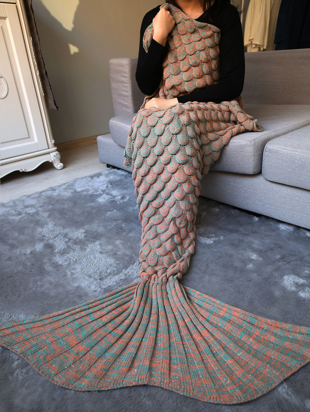 Warm Long Mermaid Blanket Throw