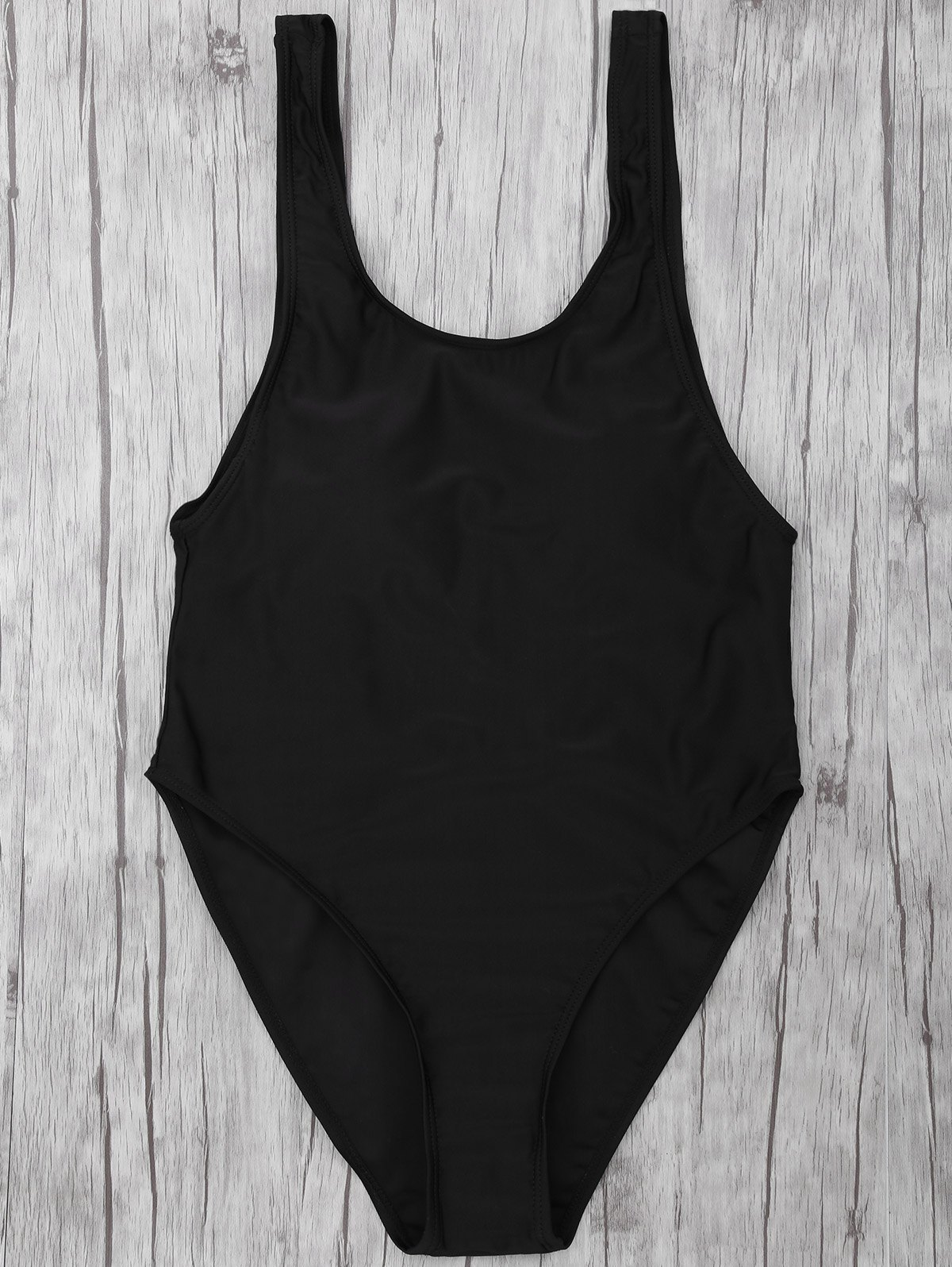 Drop Armhole Backless Swimsuit