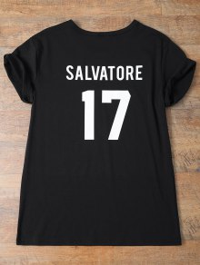 Jewel Neck Salvatore 17 T-Shirt - Black M