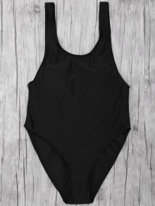 One Piece Backless Swimsuit - Black