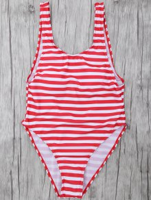 Stripe Drop Armhole Swimsuit