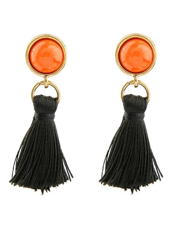 Vintage Tassel Earrings - BLACK  Mobile