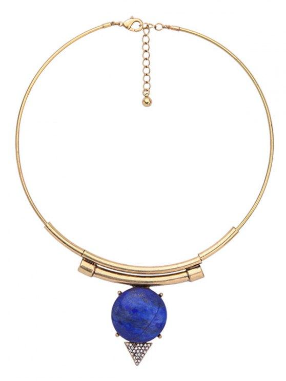Triangle Vintage Rhinestone Necklace - GOLDEN  Mobile