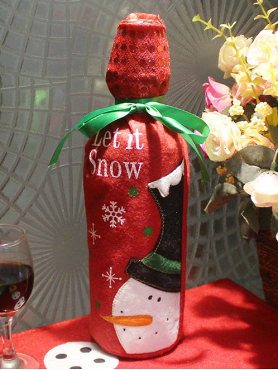 Merry Christmas Snowman Wine Bottle Cover Bag -   Mobile