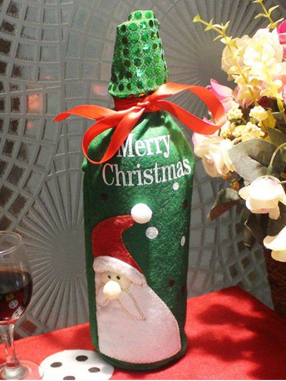 Christmas Santa Claus Wine Bottle Cover Bag -   Mobile