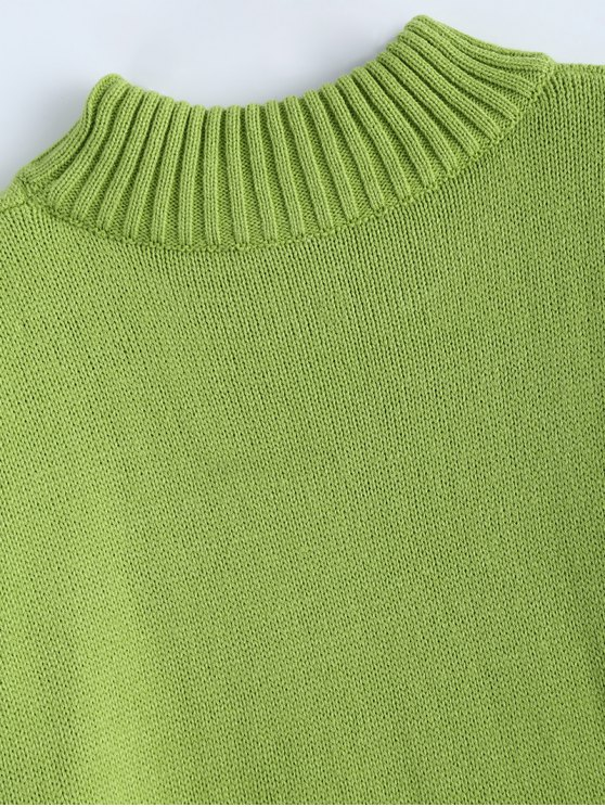 Crewneck Oversized Sweater - GREEN ONE SIZE Mobile