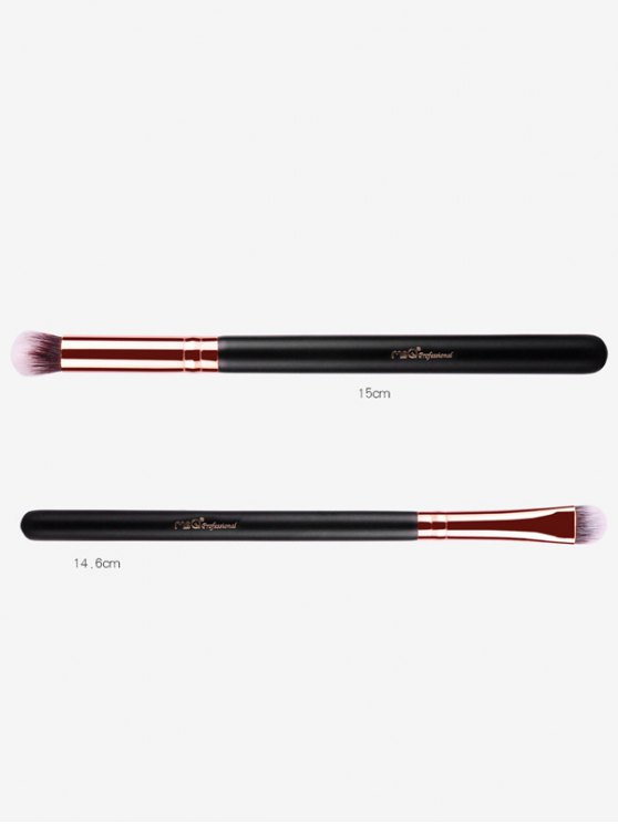 Goat Hair Eye Makeup Brushes Kit - ROSE GOLD  Mobile