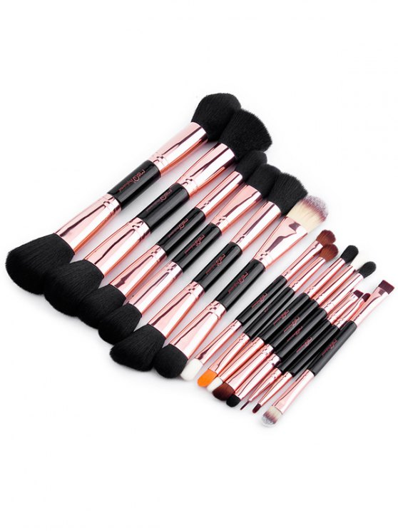 Double-End Makeup Brushes Kit - ROSE GOLD  Mobile