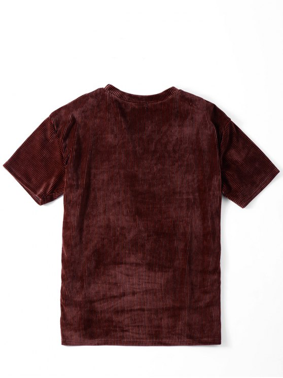 Oversized Corduroy T-Shirt - COLORMIX ONE SIZE Mobile
