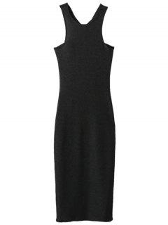 Glitter Midi Pencil Dress - Black S