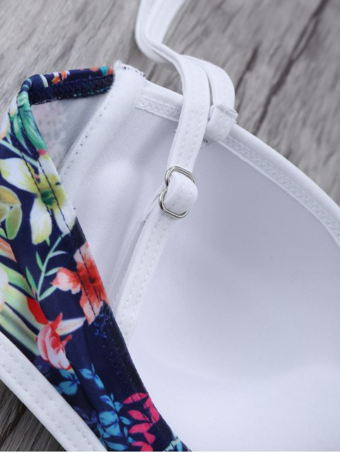 ladies Push Up Floral Swimsuit Slip - COLORMIX XL Mobile