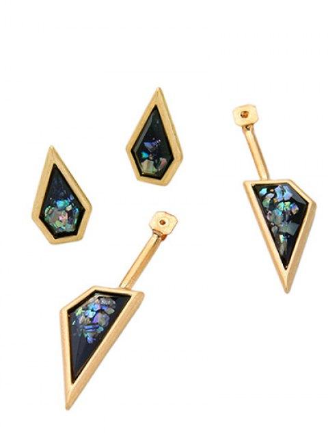 outfits Geometric Faux Gemstone Drop Earrings - GOLDEN  Mobile