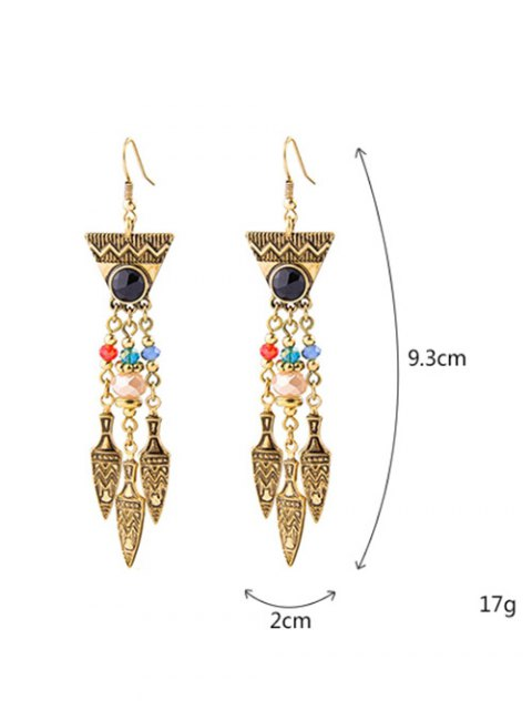 latest Geometric Faux Gem Drop Earrings - GOLDEN  Mobile