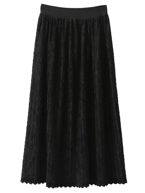 shops Maxi Pleated Skirt - BLACK ONE SIZE Mobile