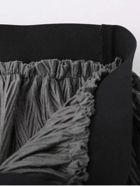 latest Maxi Pleated Skirt - GRAY ONE SIZE Mobile