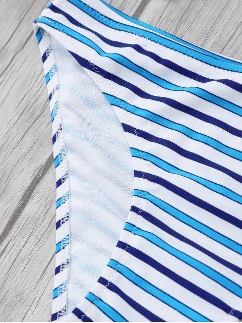 chic Striped Color Block Underwire Bikini - STRIPE M Mobile