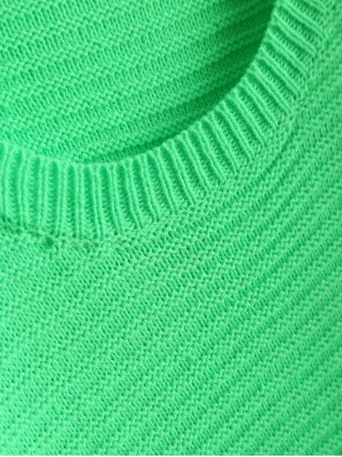 unique Fluorescent Kimono Sleeve Sweater - NEON GREEN ONE SIZE Mobile