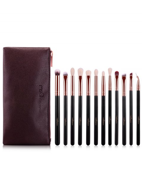 hot Fiber Eye Makeup Brushes Kit - ROSE GOLD  Mobile