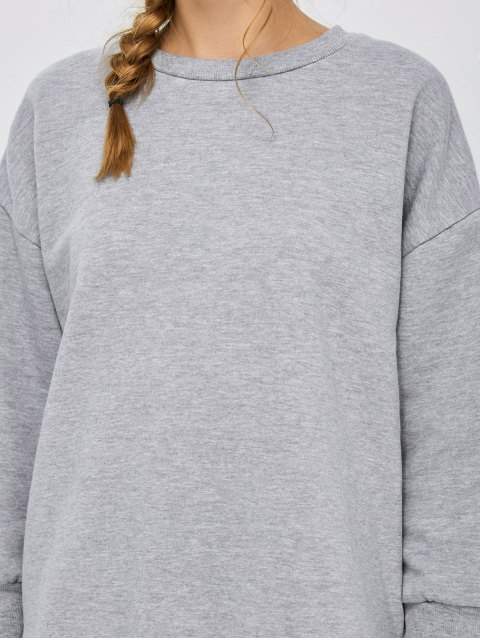 outfit Slit High Low Sweatshirt - GRAY M Mobile