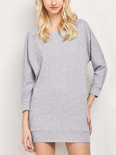 Dolman Sleeve Round Collar Sweatshirt - GRAY 2XL Mobile