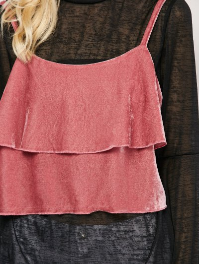 Ruffles Velvet Cami Top - PAPAYA S Mobile